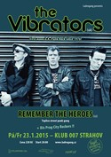 Pozvánka: THE VIBRATORS (uk), REMEMBER THE HEROES (cz)